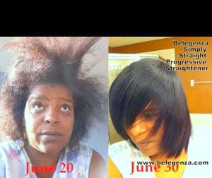 Simply Straight Progressive Straightener Nancy La Loca Watson Before and After Belegenza
